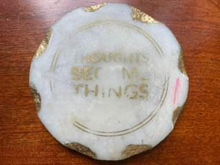 This is a marble coaster I purchased from one of  @mikedooley's initiatives.  I